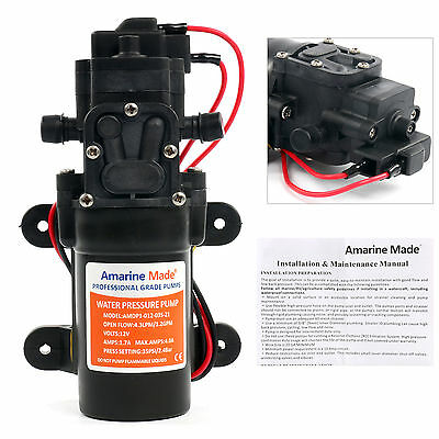 Amarine-made 12V DC 1.2 GPM 35 PSI 21-Series Diaphragm Water Pressure Pump