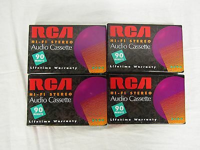 NEW SEALED Lot of 2 RCA Blank Audio Cassette Tapes 90 MIN RC90 Hi-Fi Stereo