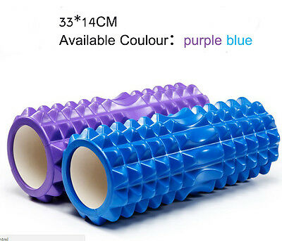 33cm EVA Grid Foam Roller AB Yoga Pilates Back Gym Trigger Point Home Massage