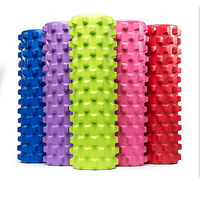 45cm EVA Grid Foam Roller AB Yoga Pilates Back Gym Trigger Point Home Massage