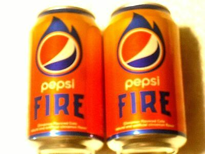 2x 2017 FULL 12 oz American Can PEPSI FIRE -- Limited time only!