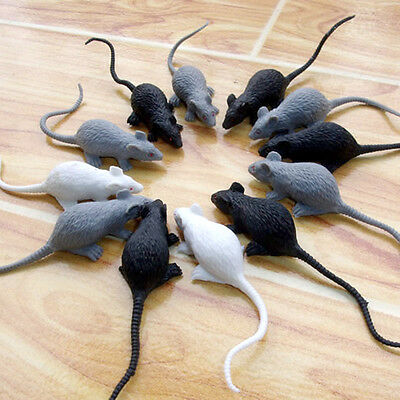 Plastic Rats Mouse Model Figures Kids Halloween Tricks Pranks Props Toy 3 Sizes