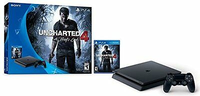 Sony PlayStation 4 Console PS4 Slim Uncharted 4: A Thief's End Bundle Game New