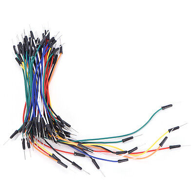 65X Male to Male Solderless Flexible Breadboard Jumper Cable Wires For Arduino G