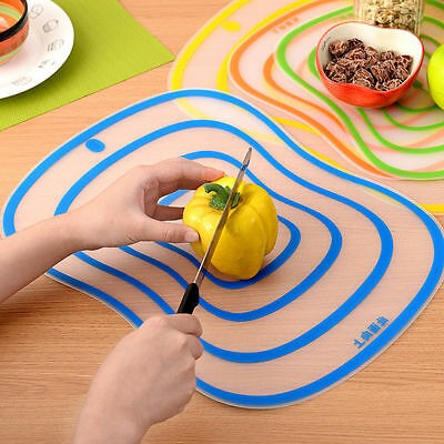 Non Skid Plastic Chopping Board Cutting Kitchen Food Slicing Dicing Boards S/M/L