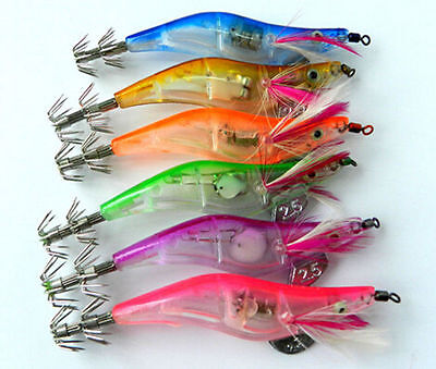 10cm Dark Luminous Shrimp jigs Hooks Hot Baits Squid Fishing Lures Glow in New