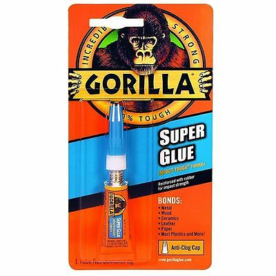 Gorilla Super Glue Incredibly Strong Impact-Tough Formula Anti-Clog Quick Dry 3g