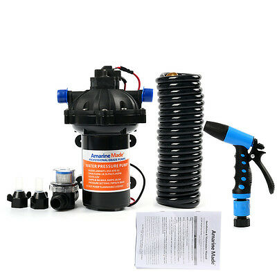 70 PSI Washdown Deck Wash Pump KIT 12v 5.0 GPM for Caravan Rv Boat Marine Yacht