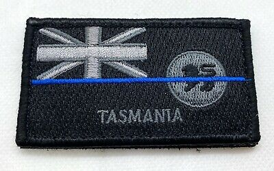 Tasmania Police Patch*, Subdued, Thin Blue Line, Law Enforcement, Hook Rear