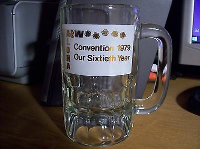 1979 A&W Hawaii 60th Anniversary Convention root beer mug NEW! never used! NOS