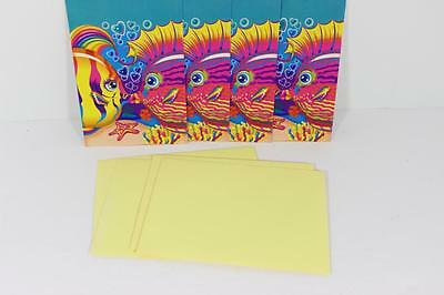 VINTAGE Lisa Frank Note Cards Kissing Fish-COLORFUL-VERY RARE-ADORABLE!