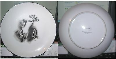 1973 made in Japan Souvenir Dinner plate Christianity Teachings LOVE ONE ANOTHER