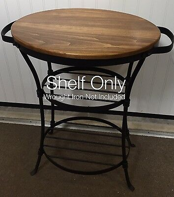 Custom Made Maple Wood Shelf Only for Longaberger Wrought Iron Beverage Stand