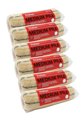 "3 x ProDec 10"" Medium Pile Stick Roller Sleeves Paint Refills (PRRE024)"