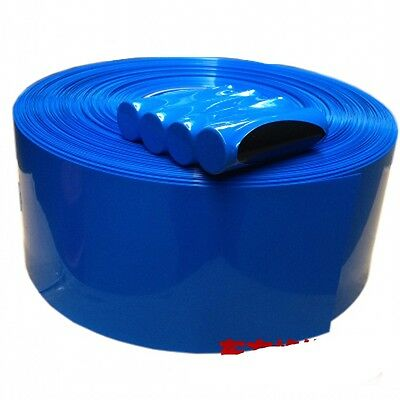 Blue Φ95mm Width 150mm Battery Sleeve Wrap PVC Heat Shrink Tubing x 1M