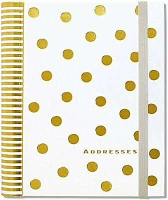 FREE 2 DAY SHIPPING: Gold Dots Large Address Book (Hardcover)