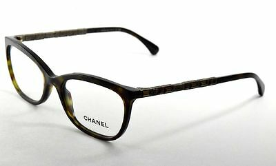 Chanel 3305B 714 Eyeglasses Dark Havana with Crystals Oval Frame 52mm
