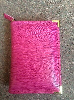Genuine Pink  leather  bible cover for pocket NWT (nwtpkt-E)