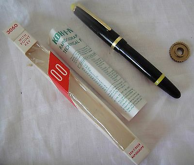KOHINOOR RAPIDOGRAPH 3060 No. 00 Yellow Top Technical Pen+Key Point+Instruct+Box