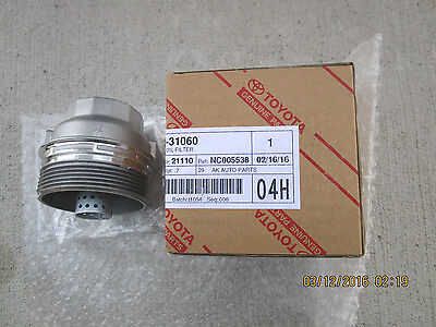 09 - 14 TOYOTA VENZA LE XLE LIMITED 3.5L 6Cyl OIL FILTER CAP ASSY NEW