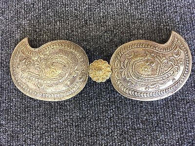 Antique Persian Metal Mughal Style Belt Buckle Paisley Islamic Hand Hammered