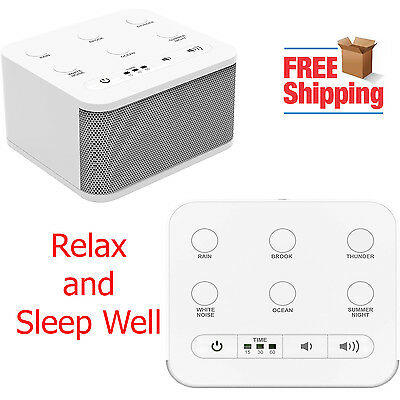 Noise Sound Machine Sleep Well Therapy Relax Fall Asleep White Nature Sounds