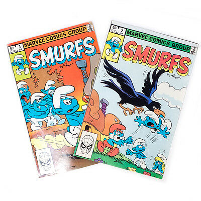 Lot of 2 Vintage 1982 SMURFS Marvel's Comics Group Books