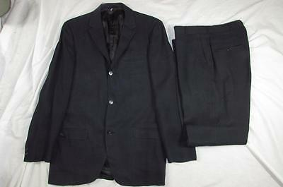 Vtg 60s 2 Pc Mens Mod Thin Lapel Hollywood Wool Suit Jacket & Pants VLV 50s Mad