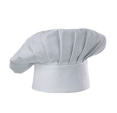 White Chef/Baker Hat Cotton Blend Adjustable Velcro® Closure