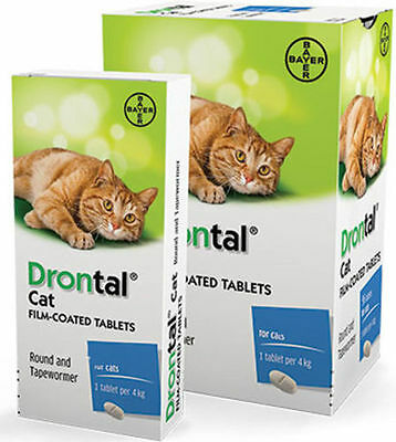 Drontal Cat Genuine Product 2-24 tablets in pack