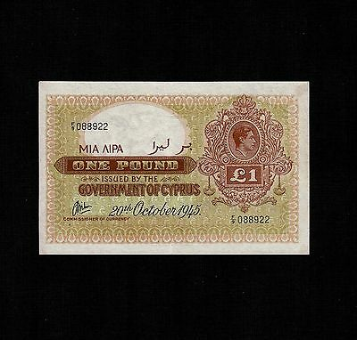 Cyprus, 1 Pound 1945, P-24 * King George *