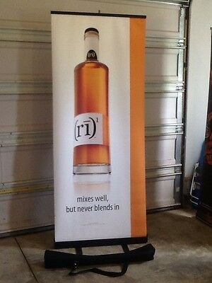 (ri)1 Retractable Roll Up Banner Stand 33 X 79