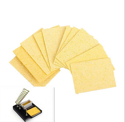 10PC Soldering Iron Head Welding Cleaning Pads Sponge Remove Iron Tip Cleaner