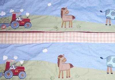 LOT OF TWO KIDSLINE Valences Countryside - Barnyard - Farm Animals Tractor ++
