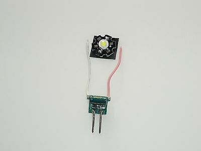 1W White Bead LED and 300mA Constant Current Driver Board 12 volt.