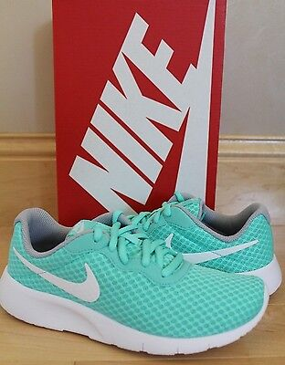 New! NIKE Girls Tanjun Turquoise Sneakers 4 5 6 Youth GS Running Shoes
