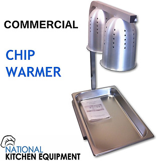 2 Bulb Heat lamp / Chip Warmer with GN 1/1 Tray