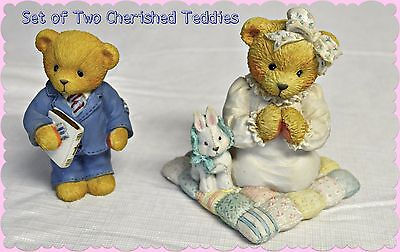 Set of Two Cherished Teddies in Great Shape