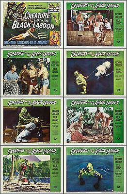 CREATURE FROM THE BLACK LAGOON Complete Set Of 8 Individual 11x14 LC Prints 1954