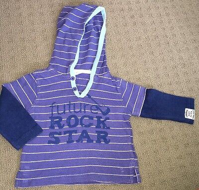 Boys Lightweight Hoodie Jumper Size 0 Pumpkin Patch Baby