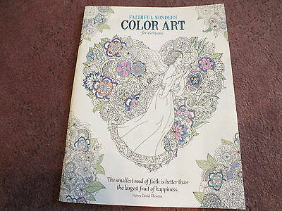 Faithful Wonders Adult Coloring Book 23 Pages to Color 1 missing NICE