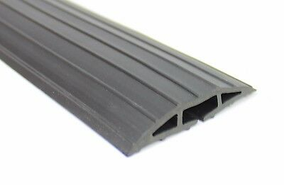 NEW Black Floor Bumper Cable Tidy Wire Lead Cover Protector Ramp Strip Trunking