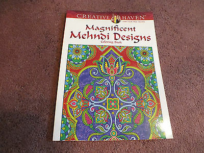 Creative Haven Adult Coloring Book 31 Pages to Color Mehnji Unused NICE
