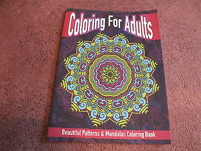 Lilt Adult Coloring Book 21 Pages to Color Patterns Mandalas Unused NICE