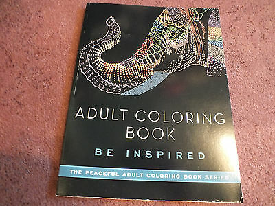 """Skyhorse Adult Coloring Book 48 Pages to Color """"Be Inspired"""" Unused NICE"""
