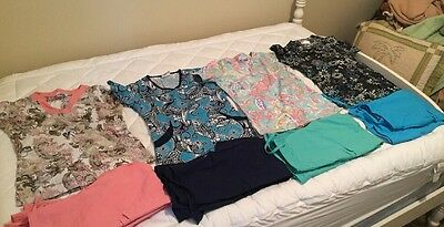 BUTTER SOFT SCRUB PANTS UA UNIFORM ADVANTAGE TOPS Size XS LOT OF 4 OUTFITS