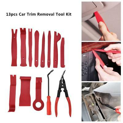 13Pcs Auto Car Door Clip Trim Panel Dash Audio GPS Install Removal Pry Tools Kit