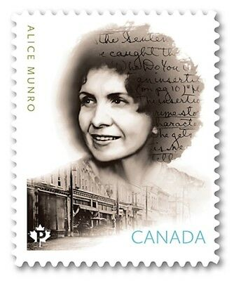 ca. ALICE MUNRO CANADIAN AUTHOR . Die Cut stamp fr booklet,MNH Canada 2015 QP3