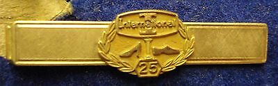 25 Year Gold Tie Clasp. International Shoe Co. in Box.