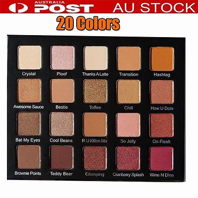 Shimmer 20 Colors Eyeshadow Palette Glamorous Smokey Eye Shadow Diamond Bright I